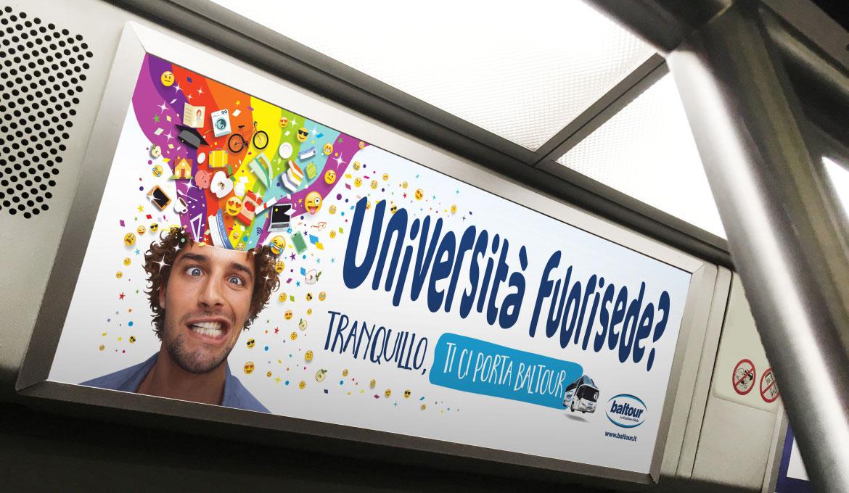 campagna pubblicitaria baltour
